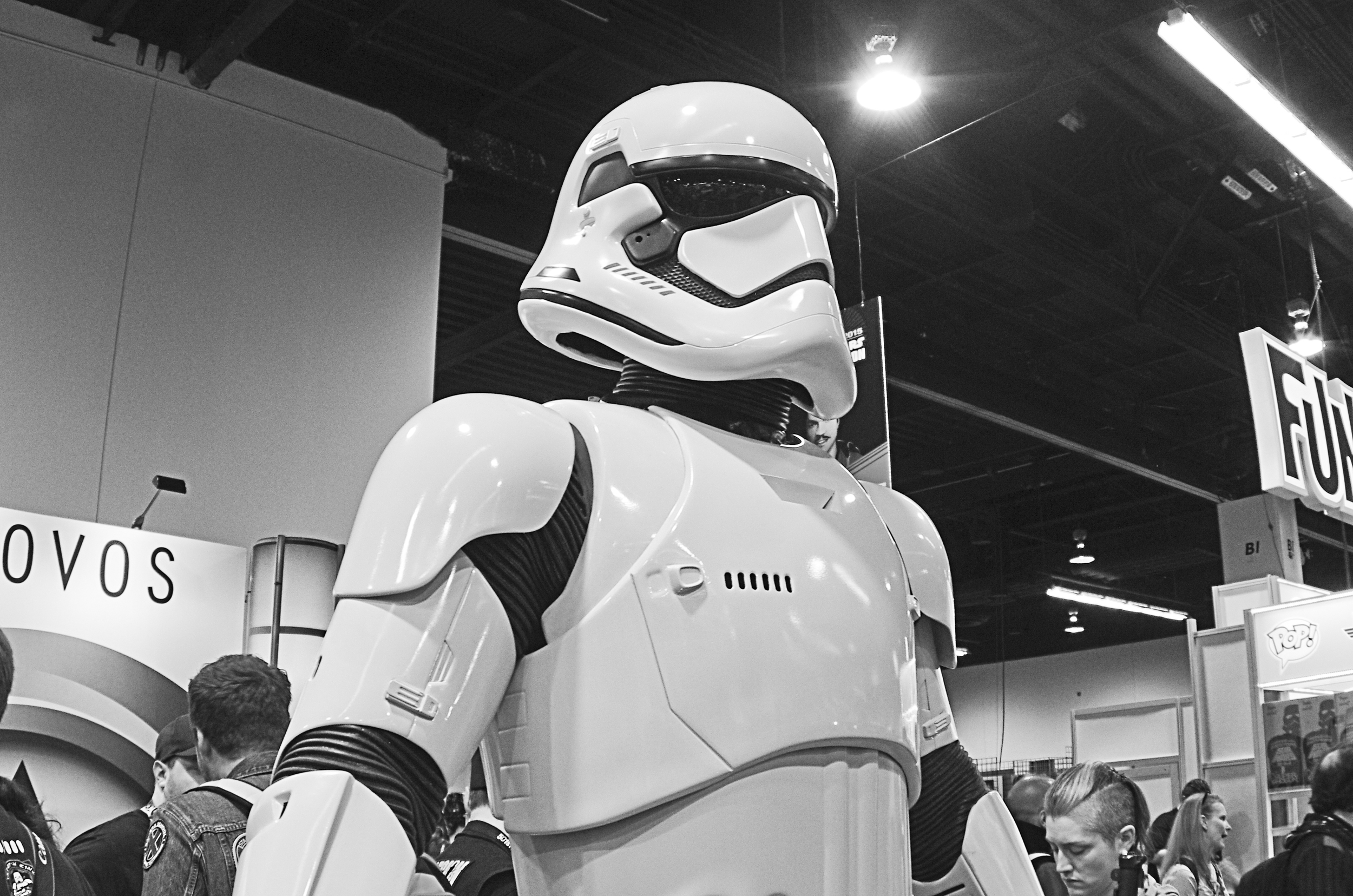 The First Order stormtroopers were awesome to check out in person.