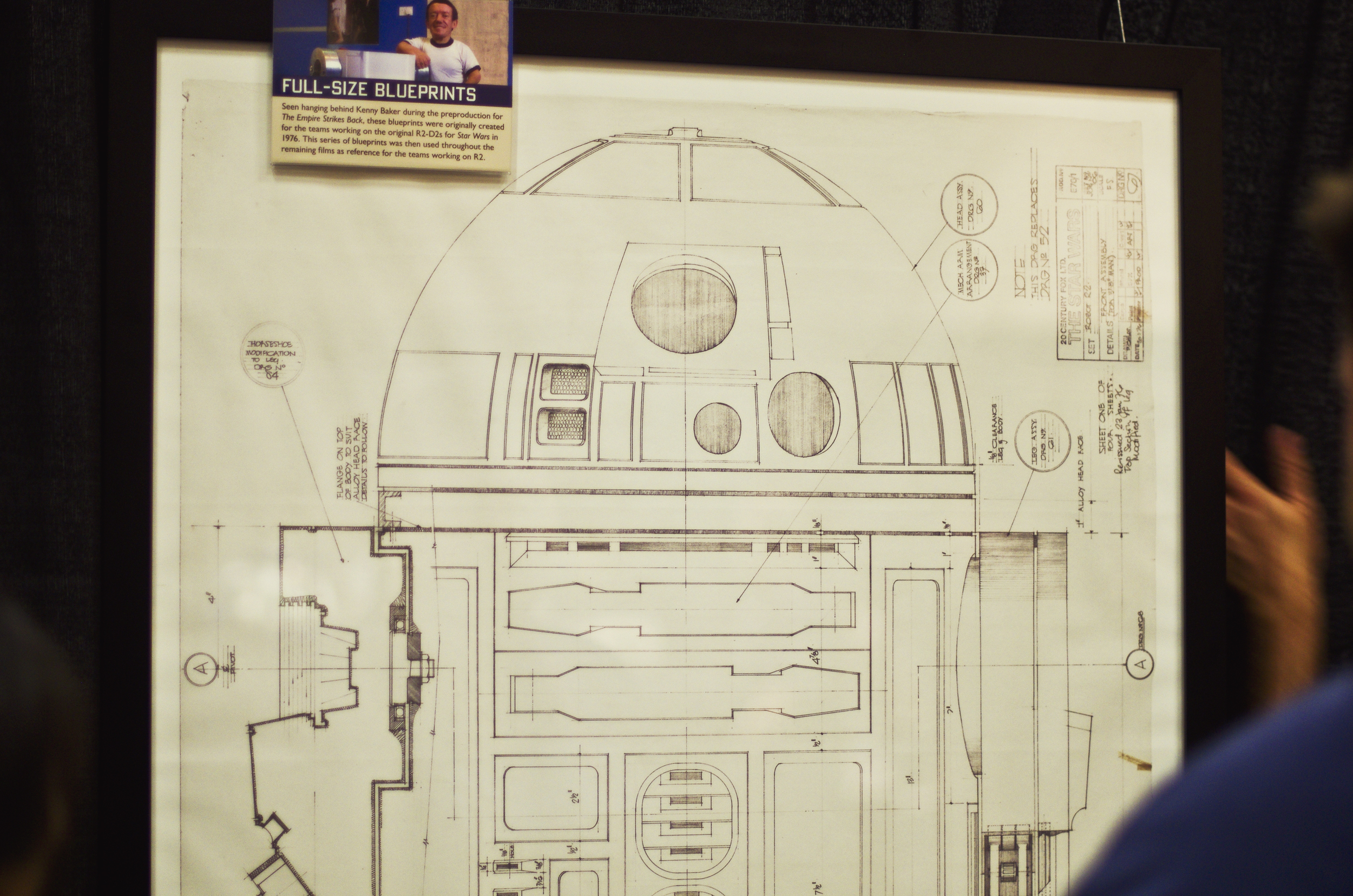 We took a picture of the plans. Our custom R2-5D will be ready for the next convention.