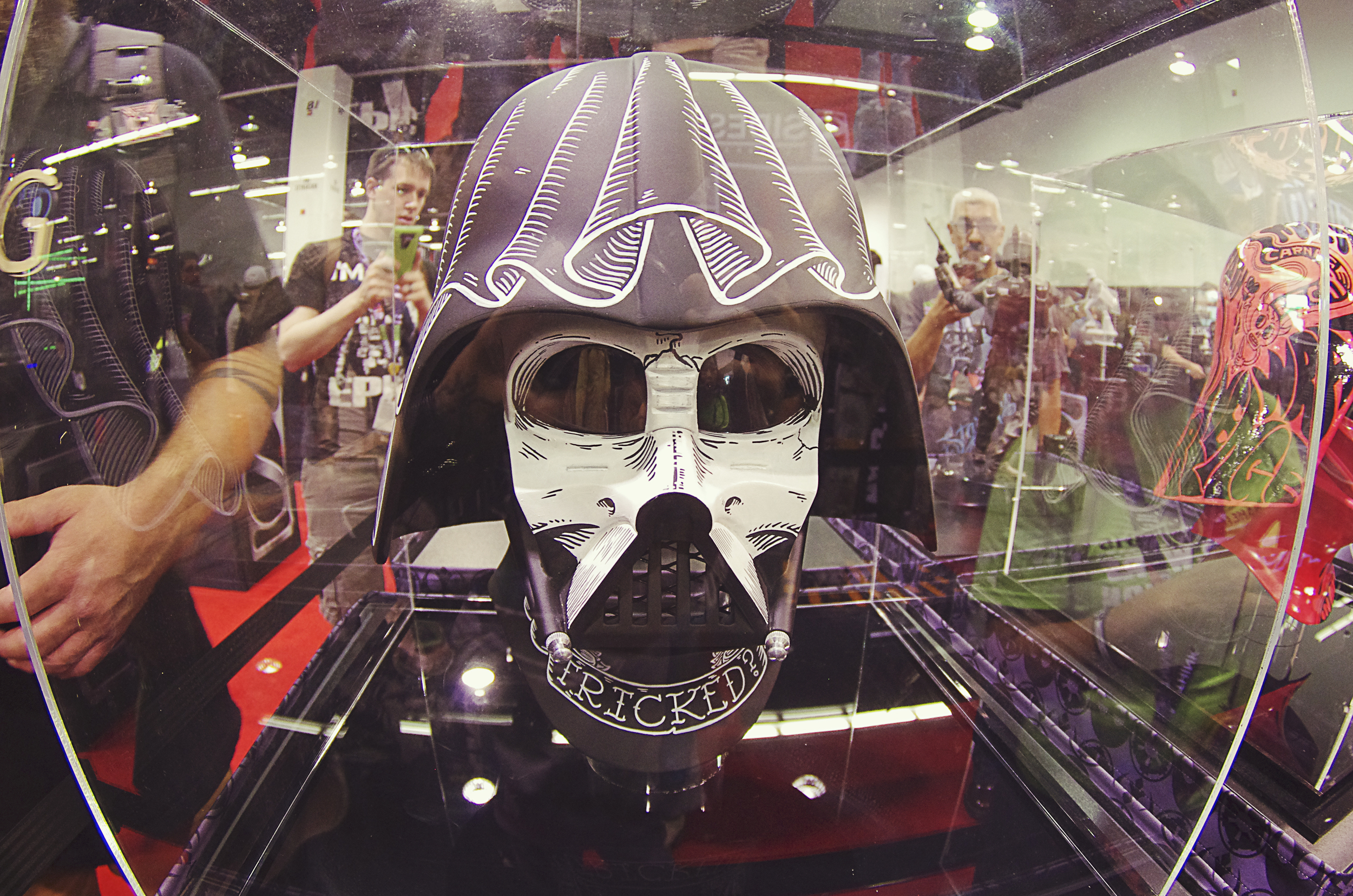 A few of the custom Vader helmets from LA also made an appearance.