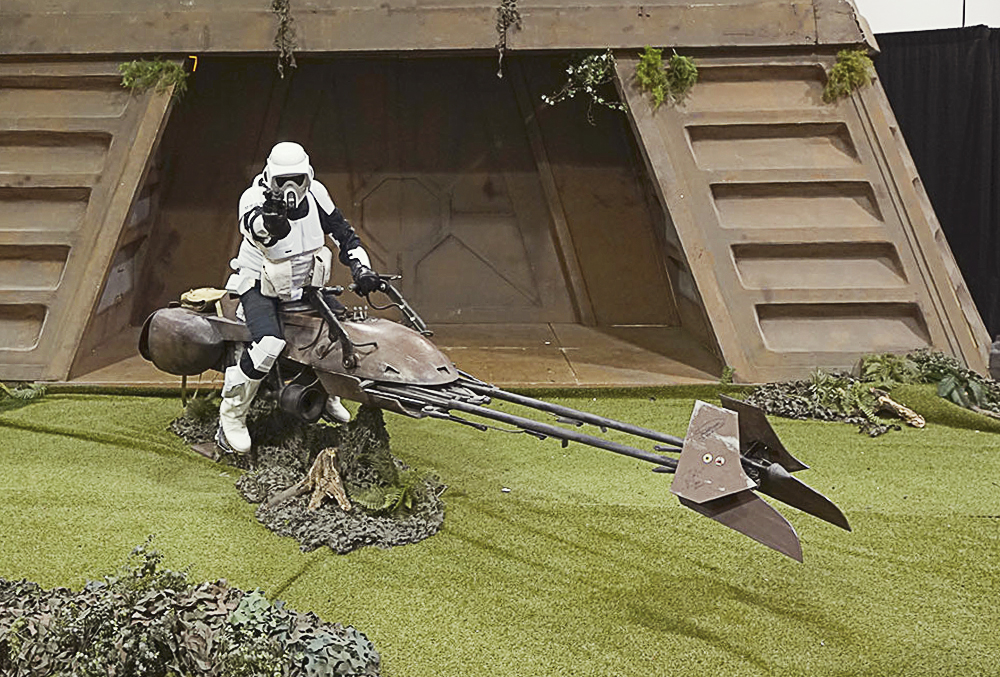 This scout trooper almost blasted Jay. What a dick!