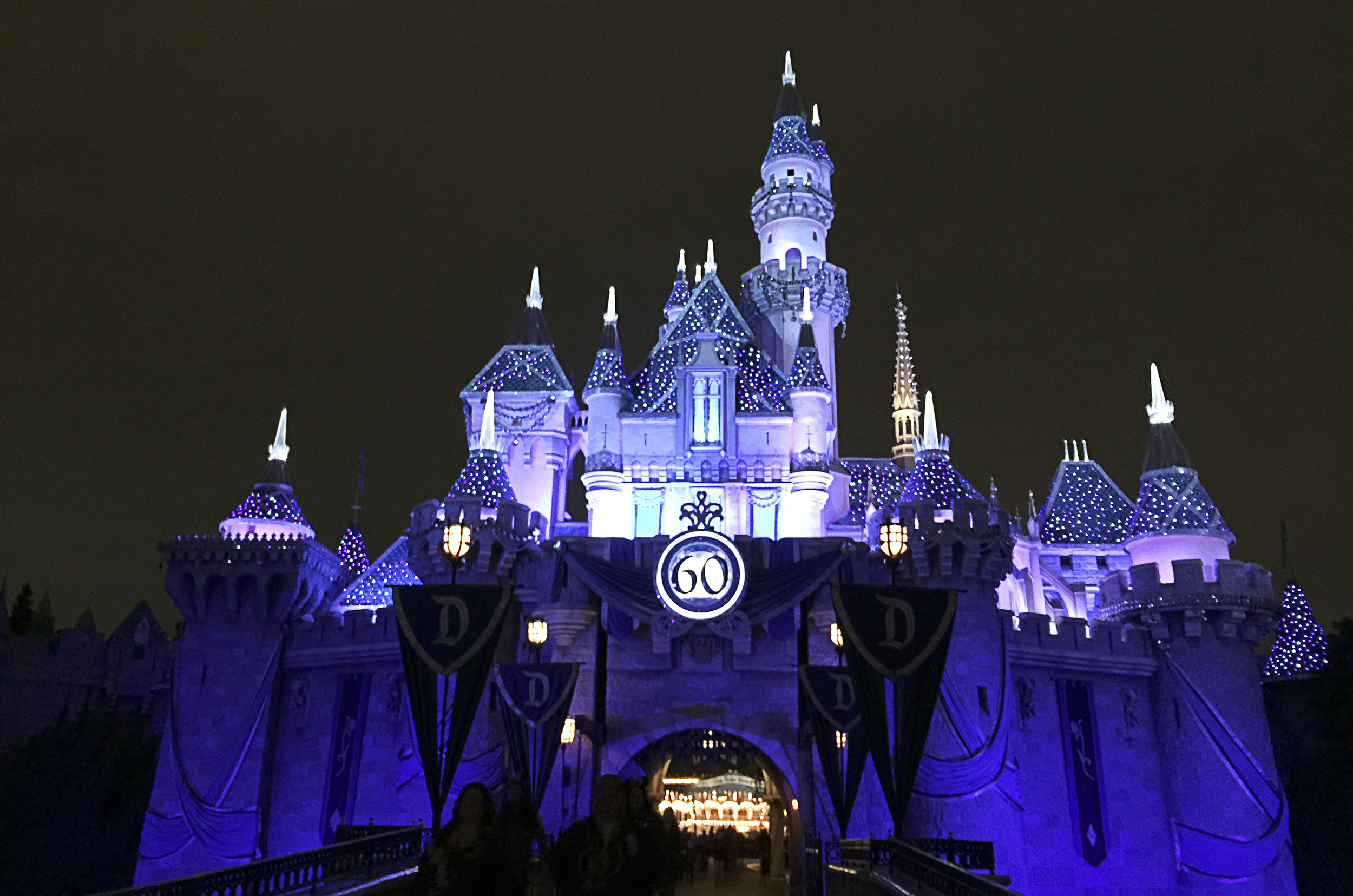 The Sleeping Beauty castle was decked out in diamonds.