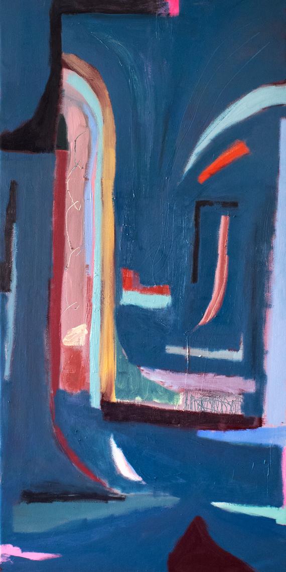 """Ysabel's Table Dance 60"""" x 30"""" Canvas & Oil"""