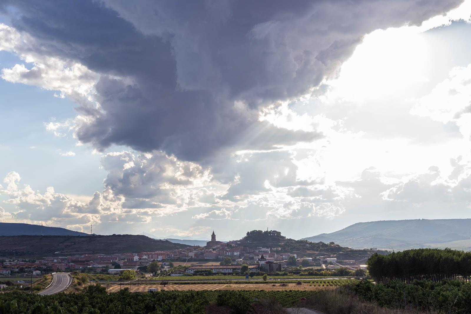 Yin Yang weather over Navarrete