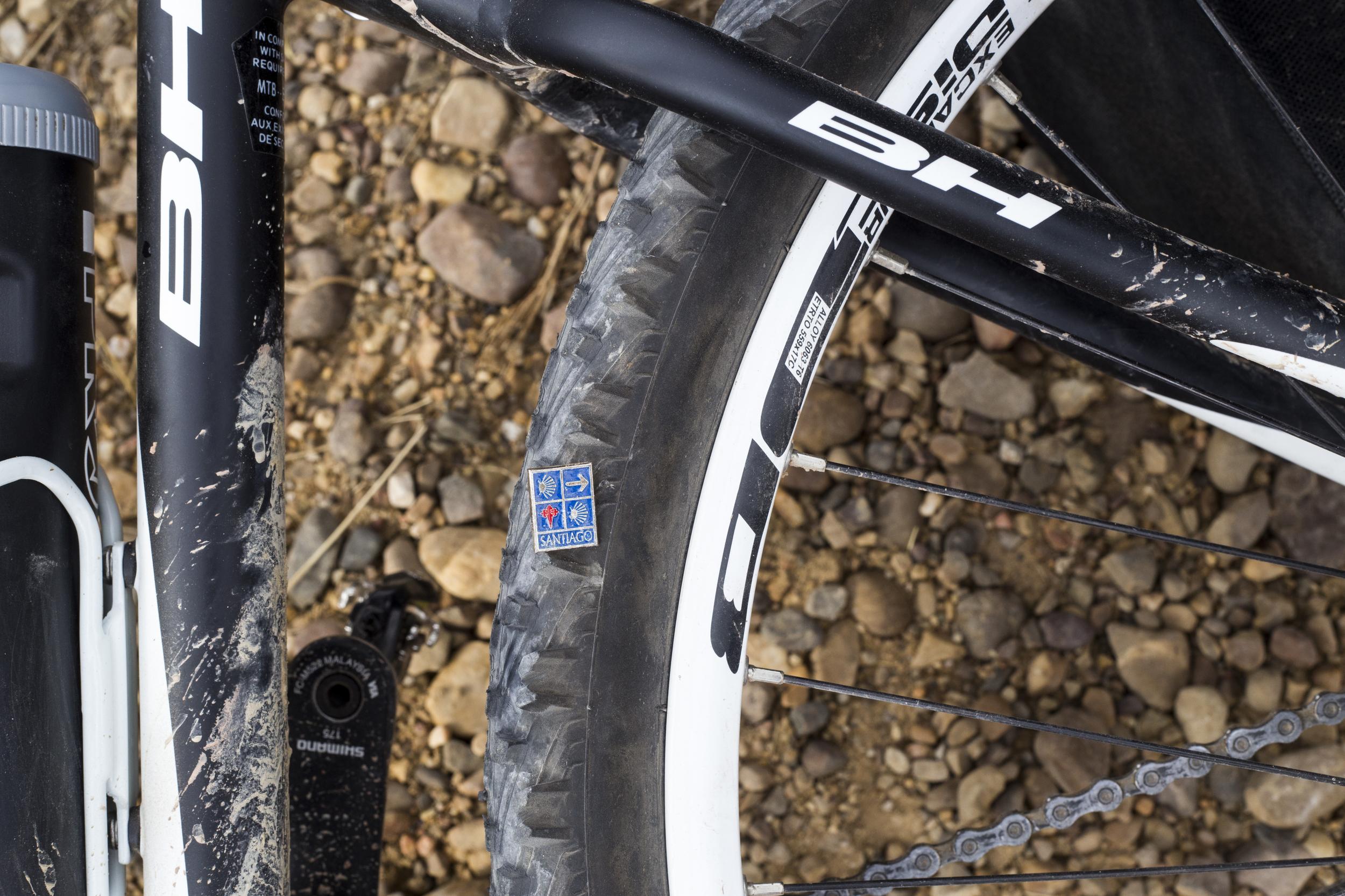 Epic Camino de Santiago Pin puncture!