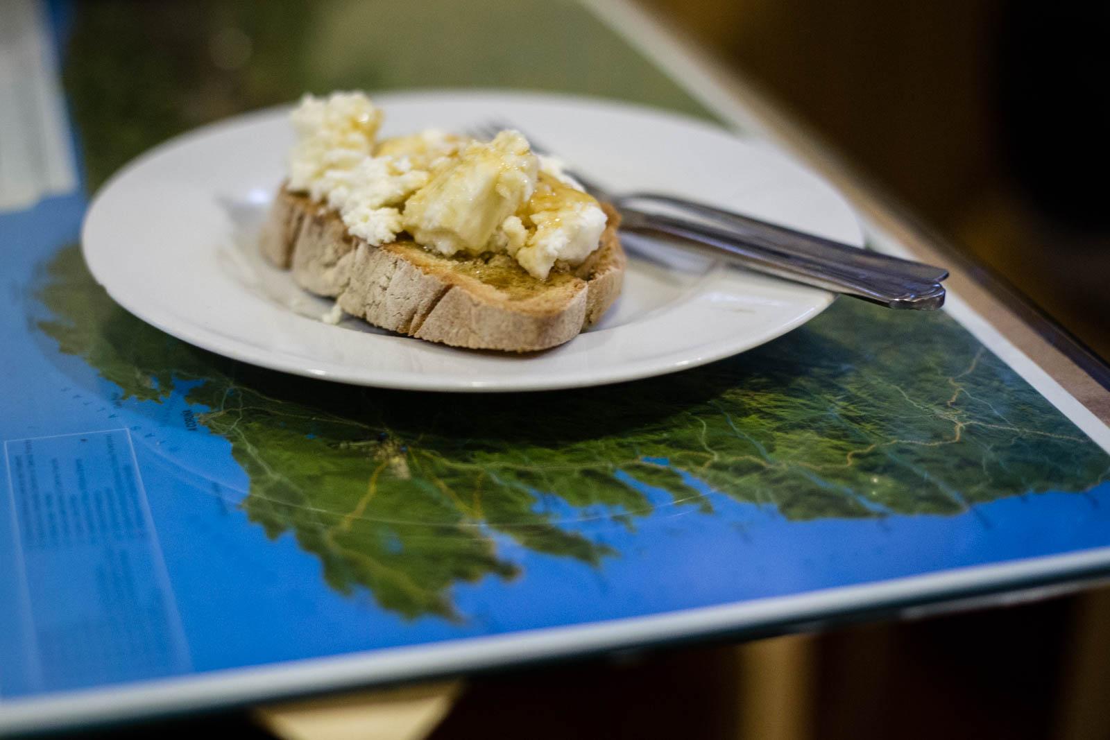 Glorious Cebreiro cheese breakfast!