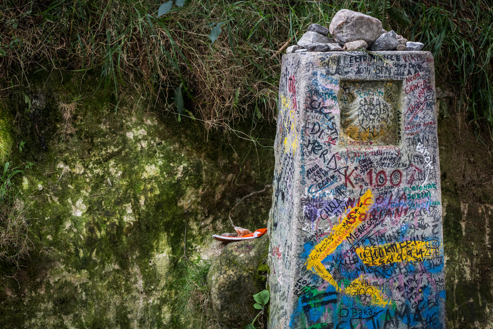 The Real Camino Milestone... and an example of how you shouldn't ruin historic pieces