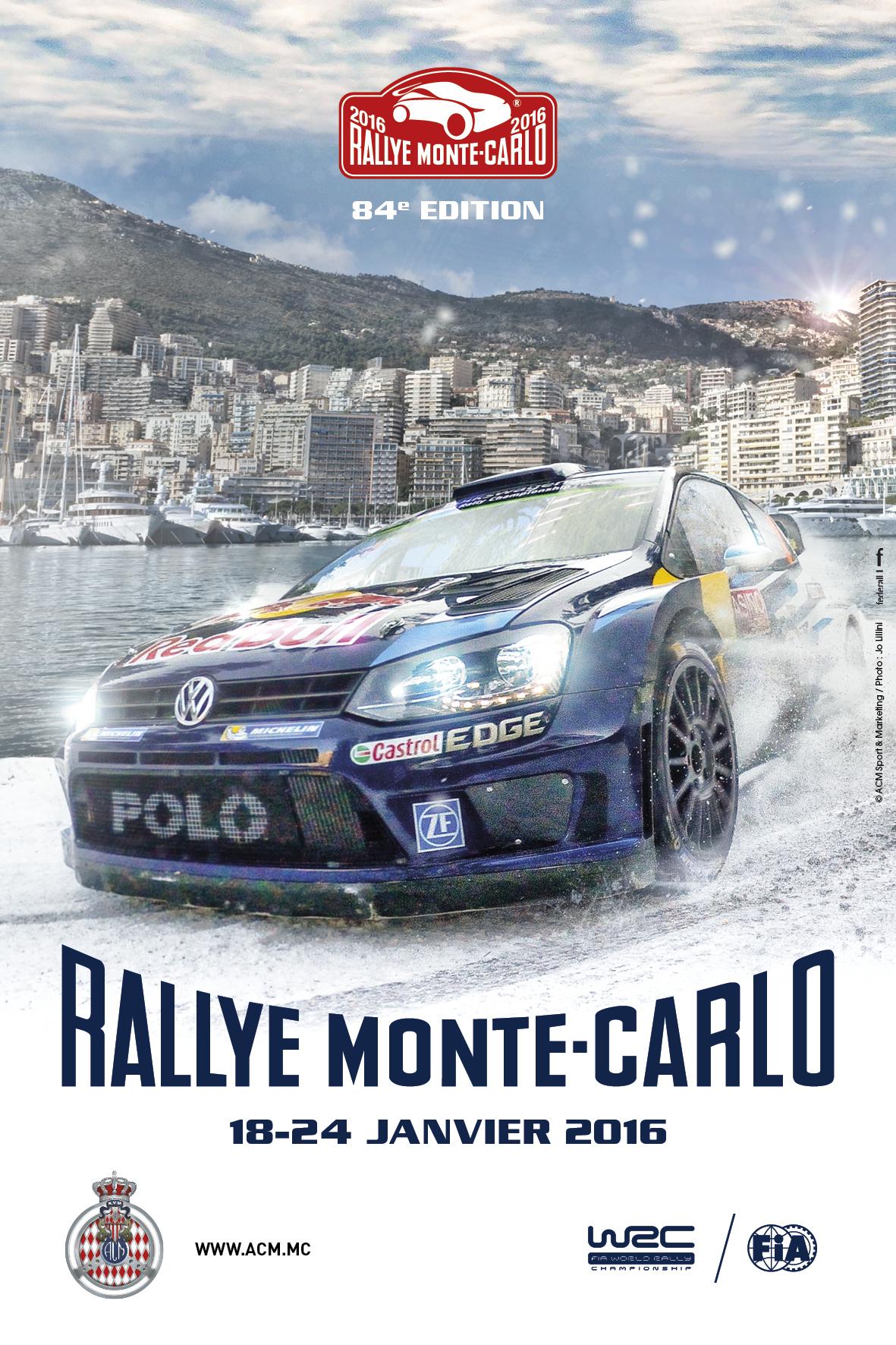 ACM Automobile Club de Monaco, Rally, WRC World Rally Championship, Monte Carlo Rally Poster