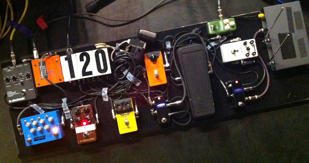 Paul's Pedalboard for the MR  BIG World Tour — Paul Gilbert