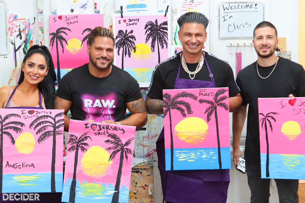 Wine & Paint Class with the Cast of 'Jersey Shore