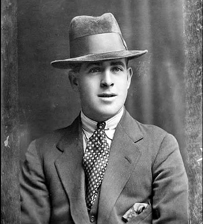 1924 Fred Piper, who's father was a steam circus proprietor. Nice pocket square and tie match up Fred, well done sir!