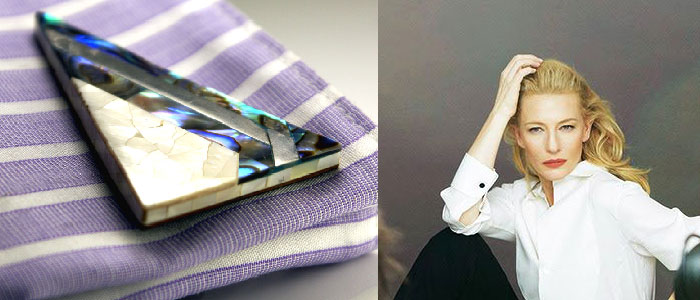 Statement ladies cufflinks in abalone & mother of pearl