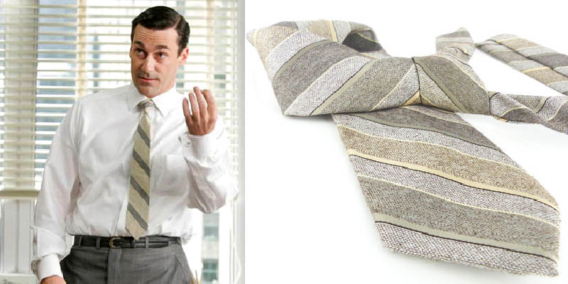 For a bigger guy, this wider tie vs skinny tie is the way to go in a classic diagonal stripe.