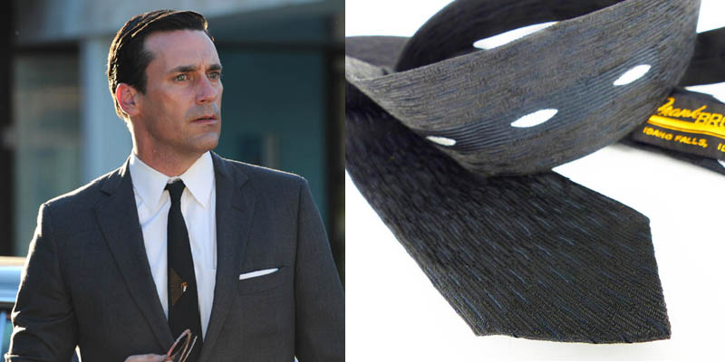 Tone on tone. Charcoal gray, white shirt and incredible textured Icon skinny tie. Just add aviator sunglasses.