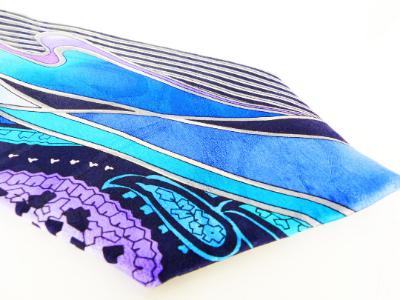 Pop Art Mod vintage Albert Nippon silk tie in gorgeous blues and purple. If you would like for us to person shop for YOUR style, Just convo us!