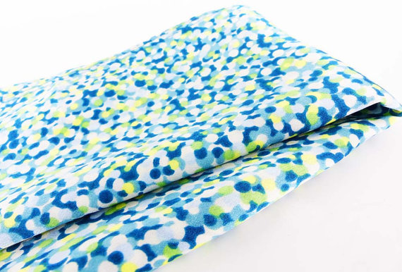 Color pocket POP! watercolor dots in such fresh colors. Lime green and shades of blue.