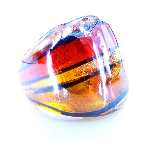 Shimmer Molded glass ring. MRM-accessories.com