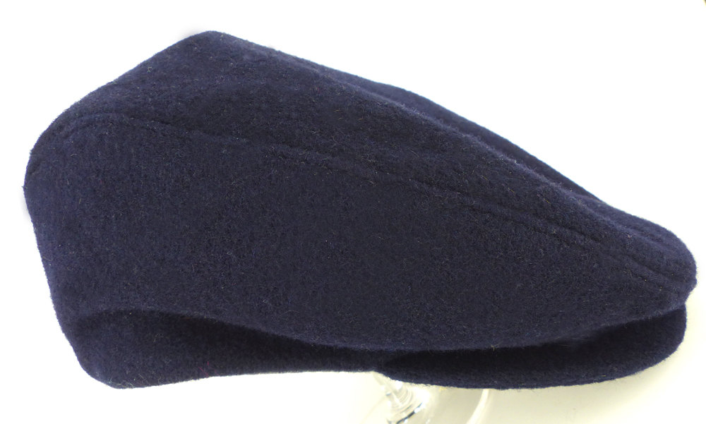 His or hers dark navy soft wool  Ivy, drivers, newsboy cap or hat . Charcoal chambray lining