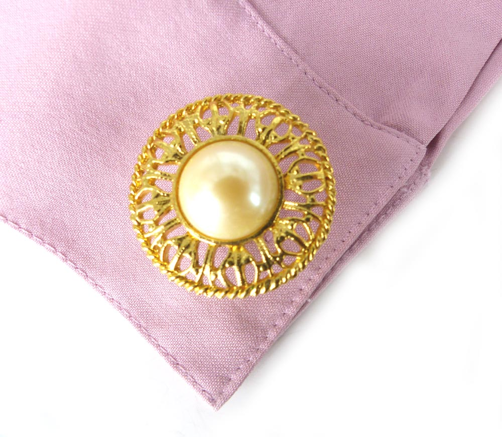 Women's statement cufflinks, elegant vanilla cream pearl and gold lace. Very Betty Draper Mad Men. Modern gold setting.  -