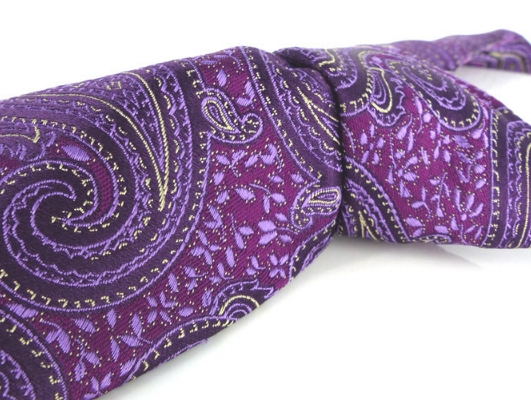 Tall size Shop pick! Drop dead gorgeous thick woven silk Mod purple paisley by John W Nordstrom.  Beautiful woven details. The lining is gorgeous as well!