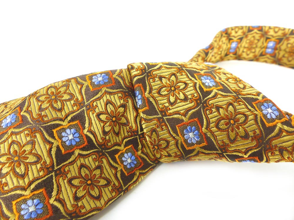 Shop pick! John W. Nordstrom gorgeous woven floral medallion tie in gold, orange, bronze & blue details. Impeccable quality.