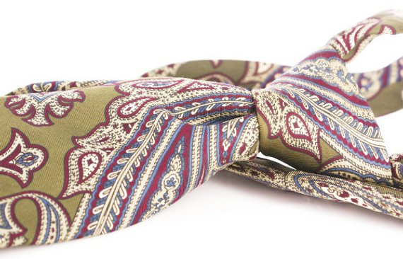 Vintage Halston paisley silk necktie