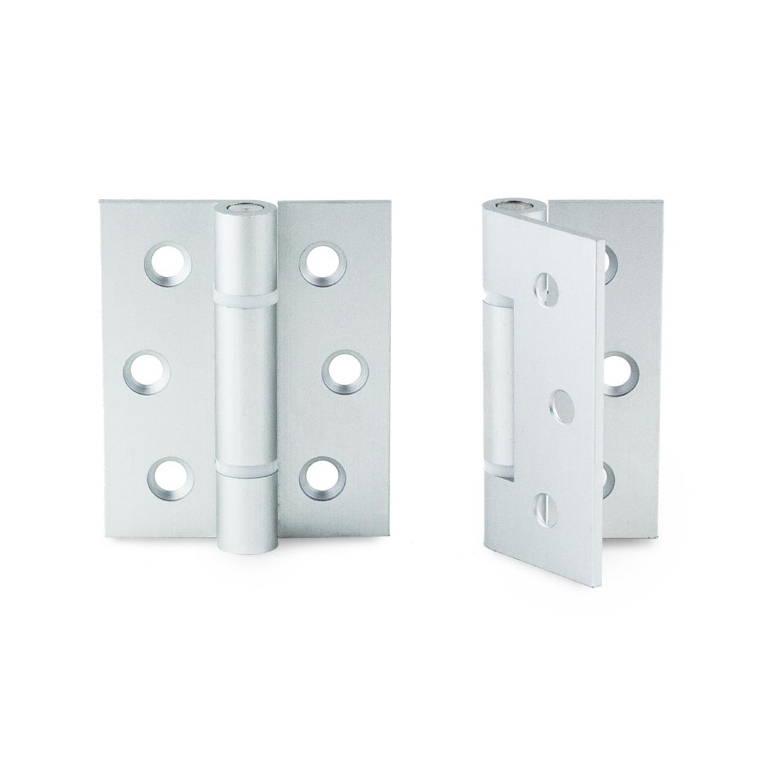 Aluminium Hinge. 3 per door for reinforced support.