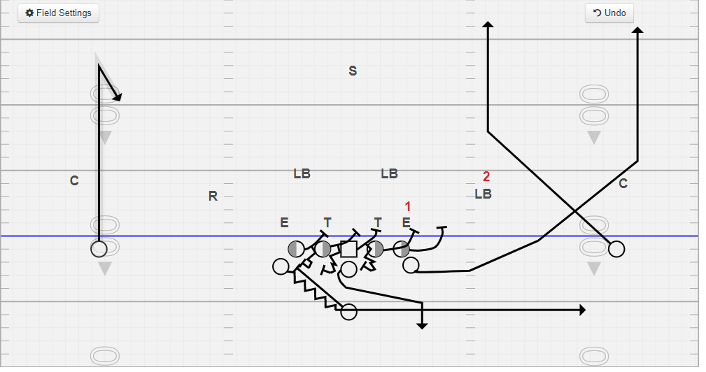 358 Play Action Pass Protection vs. 4-4.PNG