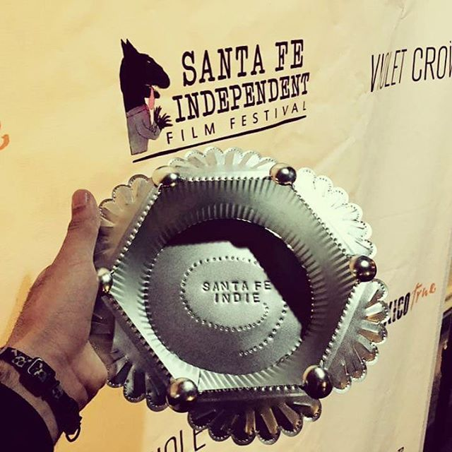 "We won ""Best Feature Film"" at the @santafeindiefilmfest y'all!!!!!! #pinskythemovie #premiere #filmmakers #female #getitdone #family #team#tour @rebeccakarpovsky @alunkish @arawoland"