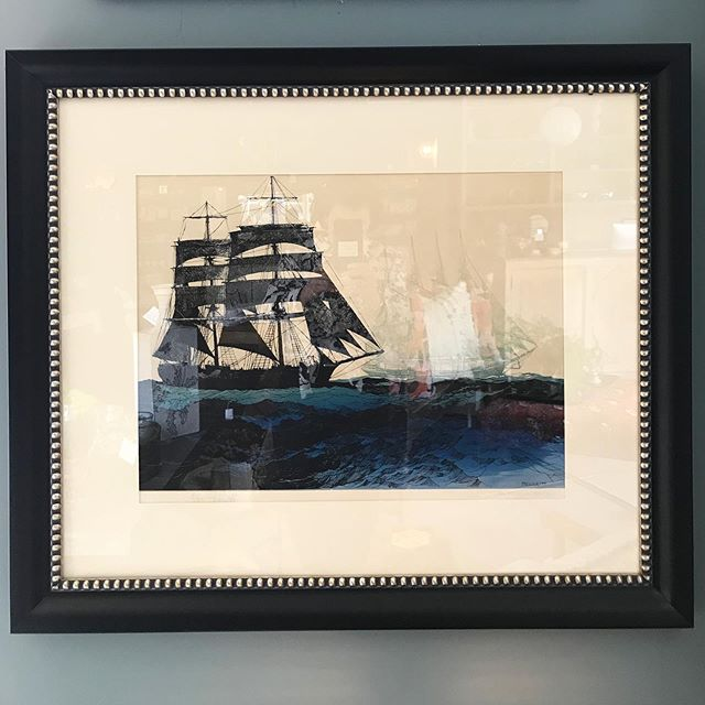 Just back from the framers with a handsome new look!  We love this handsome vintage original serigraph signed by the artist Elton Bennett titled 'The Roaring Forties'. A great gift for that special dad, perhaps? . . #maudewoodsstore #maudewoods #art #silkscreen #serigraph #original #vintage #sailboats #eltonbennett #newframe #handsome #walldecor #forthatspecialsomeone #fathersday #gift #shopsmall #shoplocal #shoppasadena