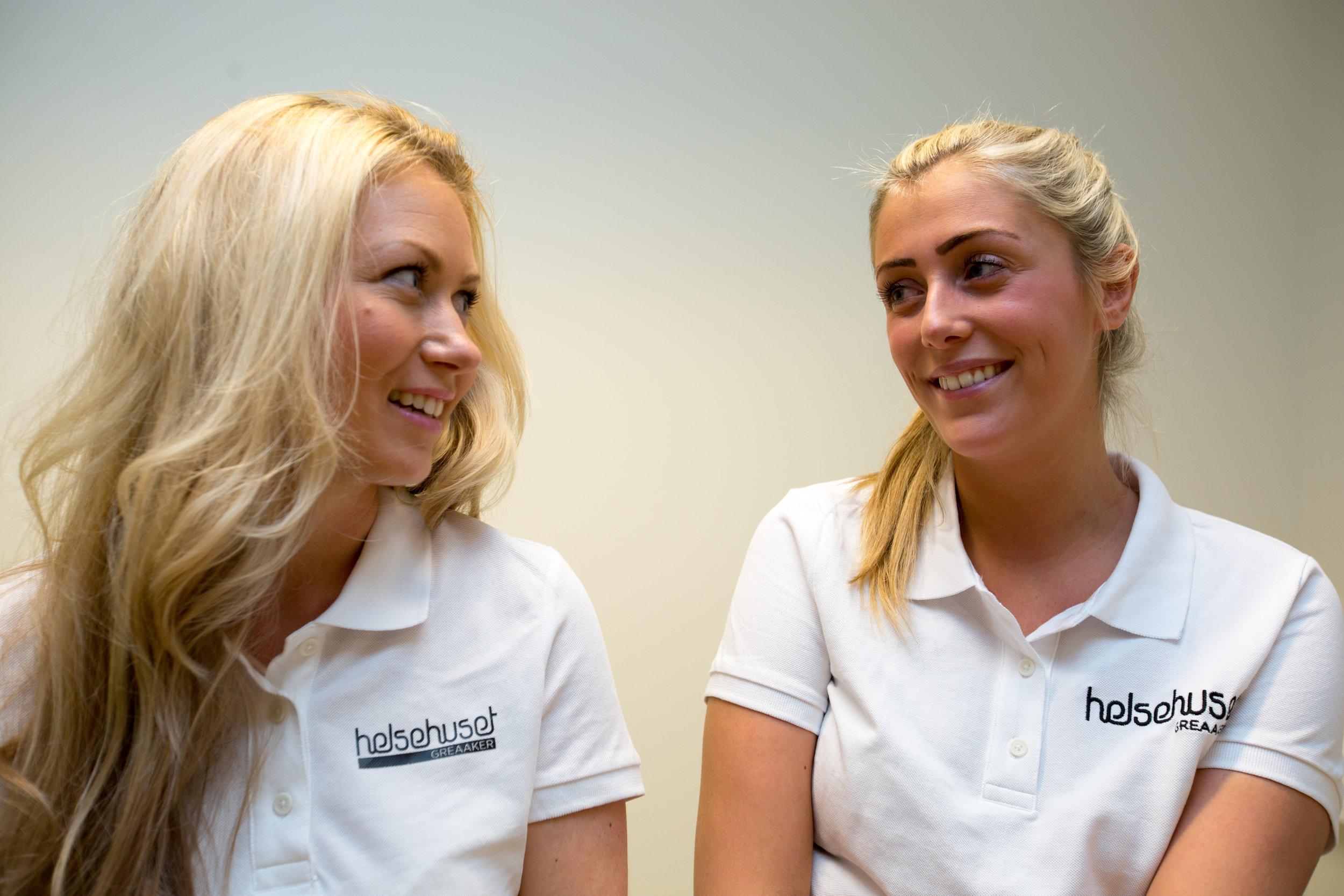 Ernæringsrådgiver Randi Flesjø og Osteopat Madelen Friberg har et tett tverrfaglig samarbeid på Helsehuset Greaaker.