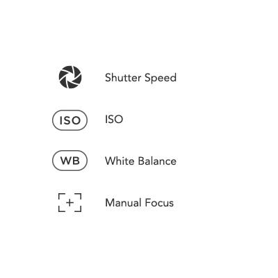 Manual Camera Icons