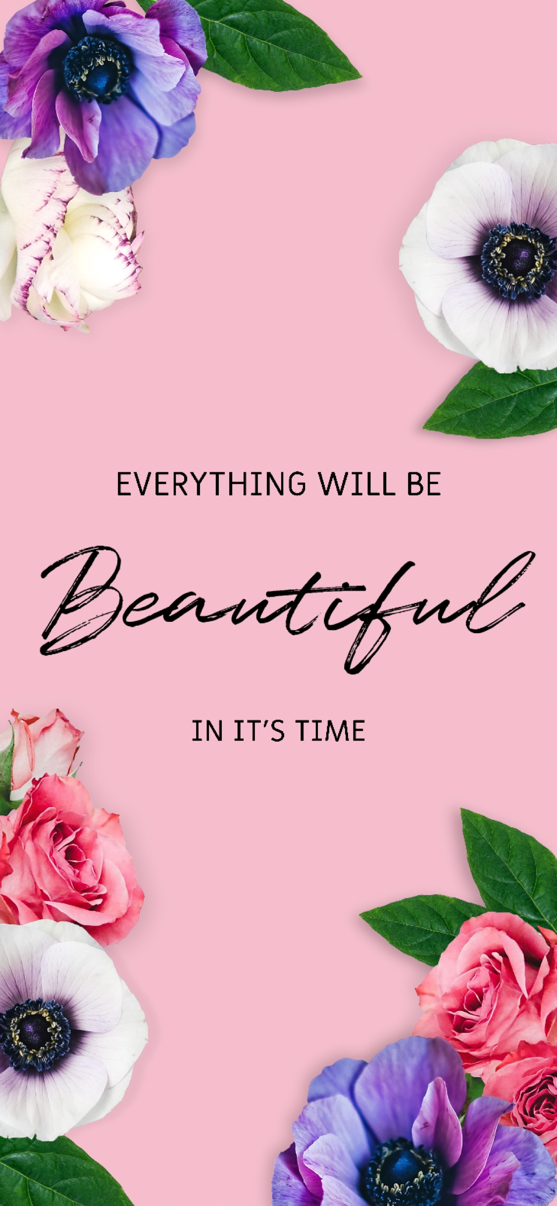 Everything will be Beautiful in it's time - for lockscreen