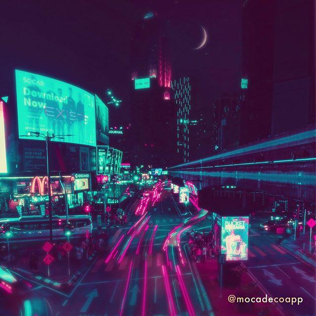 1 photo, 3 ways.  #mocadeco#mocadecoapp #neoseoul#cyberpunk#vaporwave#vaporwaveart#vaporwavevibes#aesthetic#synthwave#digitalart#VHS#futurecity#scifi#lofi#bladerunner#neoncity#newtrowave#overlays#photooverlay#grainyphoto#photography#cityscape #사이버펑크