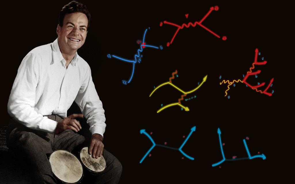Richard Feynman, fysiker og nobelpristager - selv fysikere kan være rytmiske væsner...