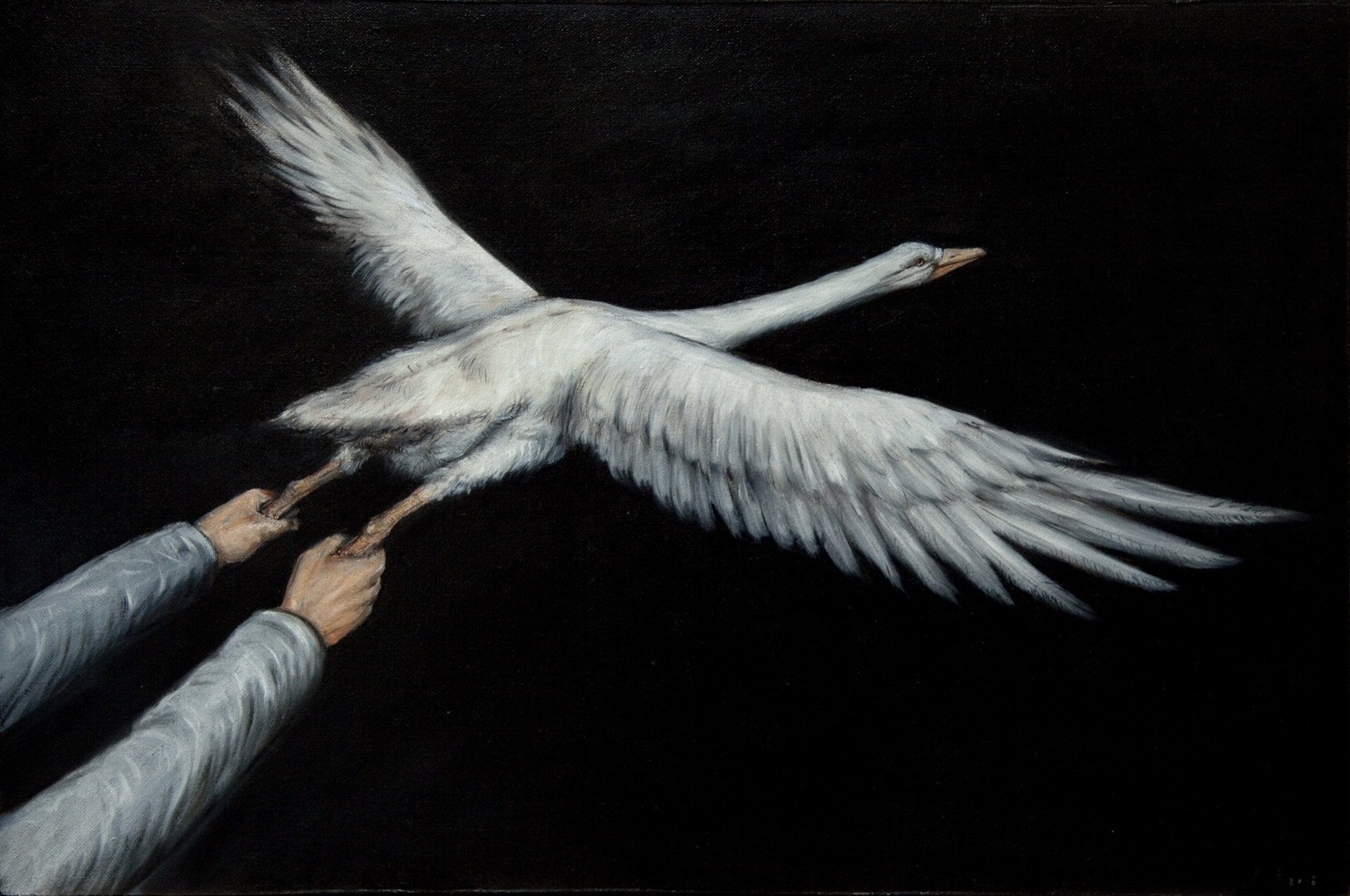Wu Junyong 吴俊勇, Cruise 邀游记, 2008, Oil on canvas 布面油画, 40 x 60 cm