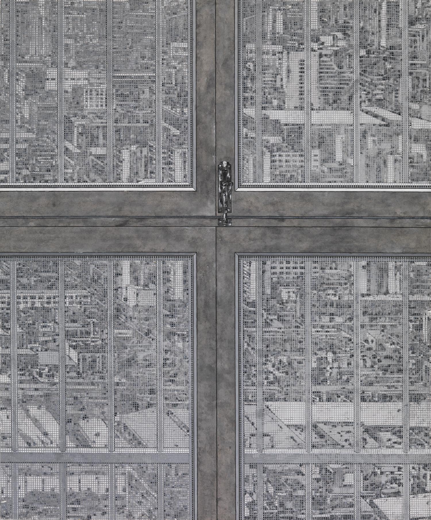 Peng Jian 彭剑, Revelation of the Cross 十字启示, 2011, Ink on paper 纸本水墨, 120 x 100 cm