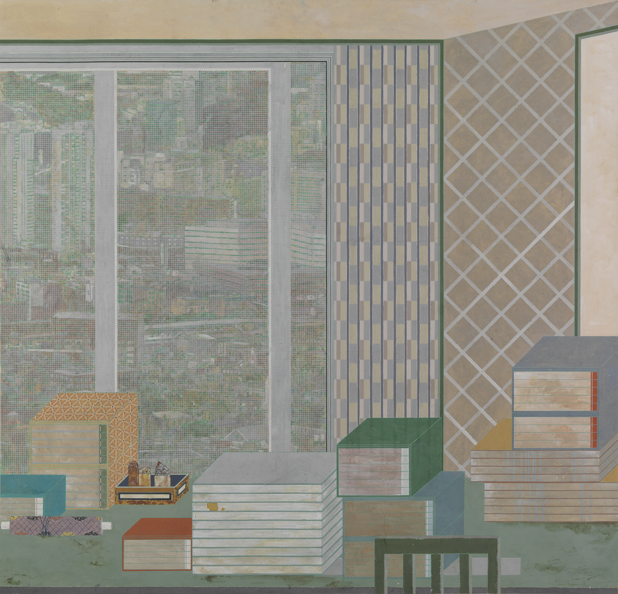 Peng Jian 彭剑, Empty Room 空房间, 2013, Color on paper 纸本设色, 158 x 152 cm