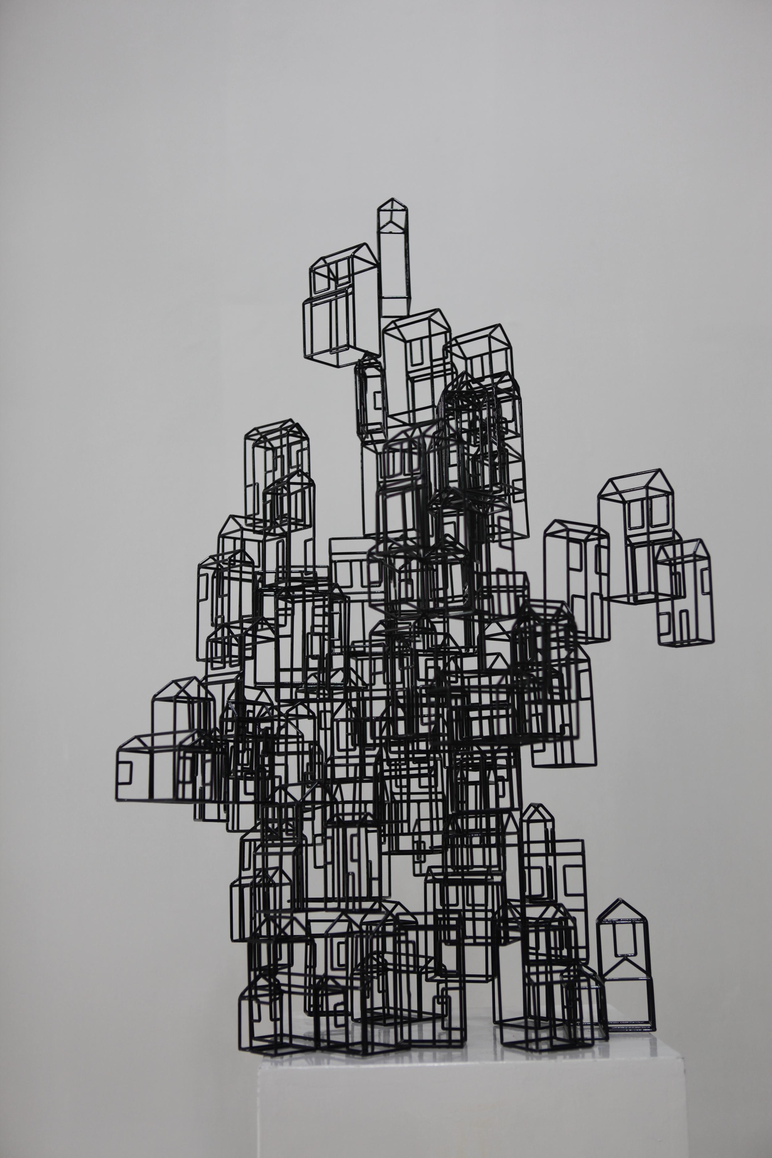 Zheng Lu 郑路, Yuntu - Suzhou 云图 - 苏州, 2013, Stainless Steel and lacquer 不锈钢与漆, 60 x 70 x 68 cm