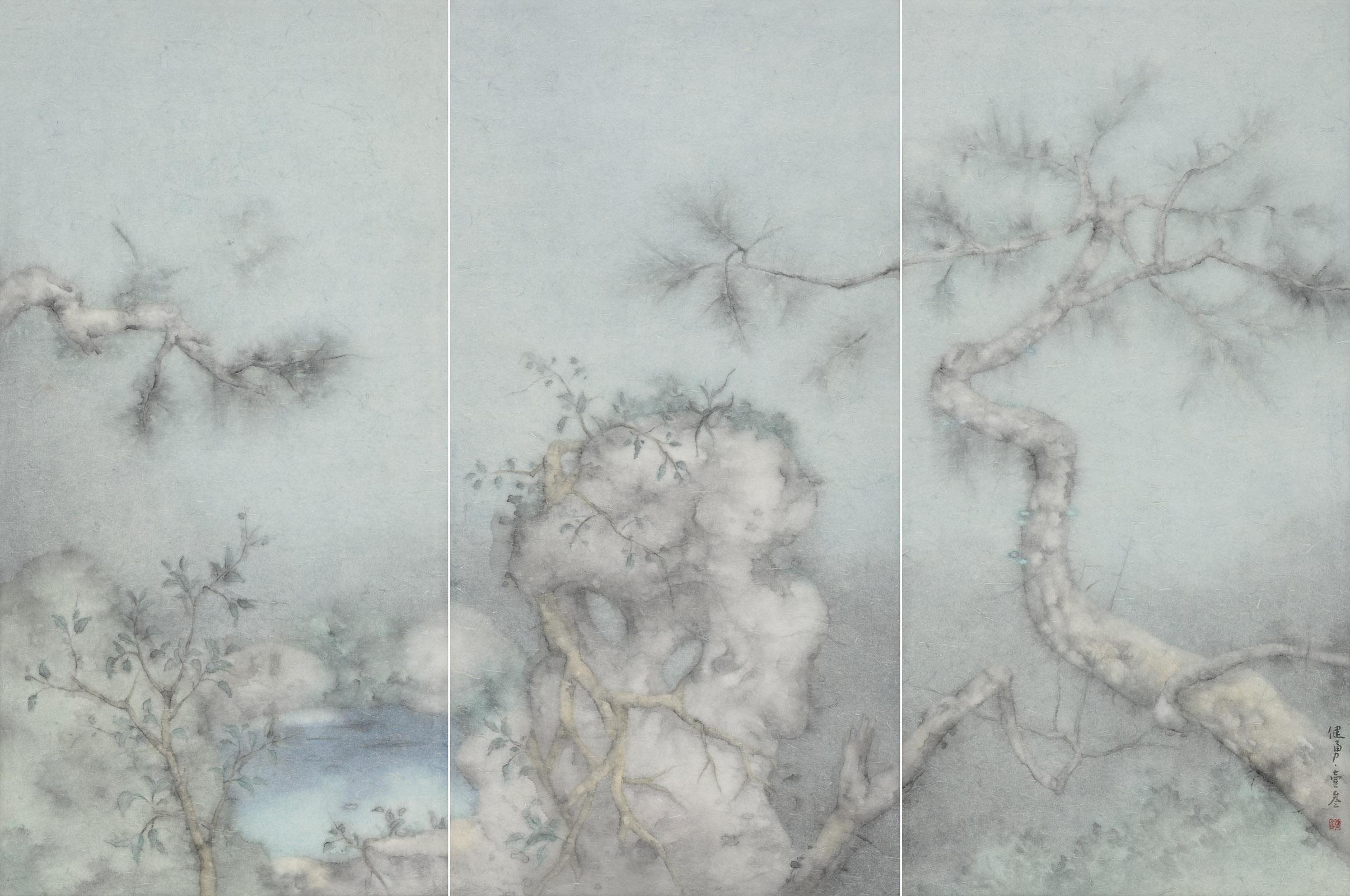 Zeng Jianyong 曾健勇, Specimen of the Hometown Garden No.1 故园标本之一, 2013, 144 x 72 cm x 3