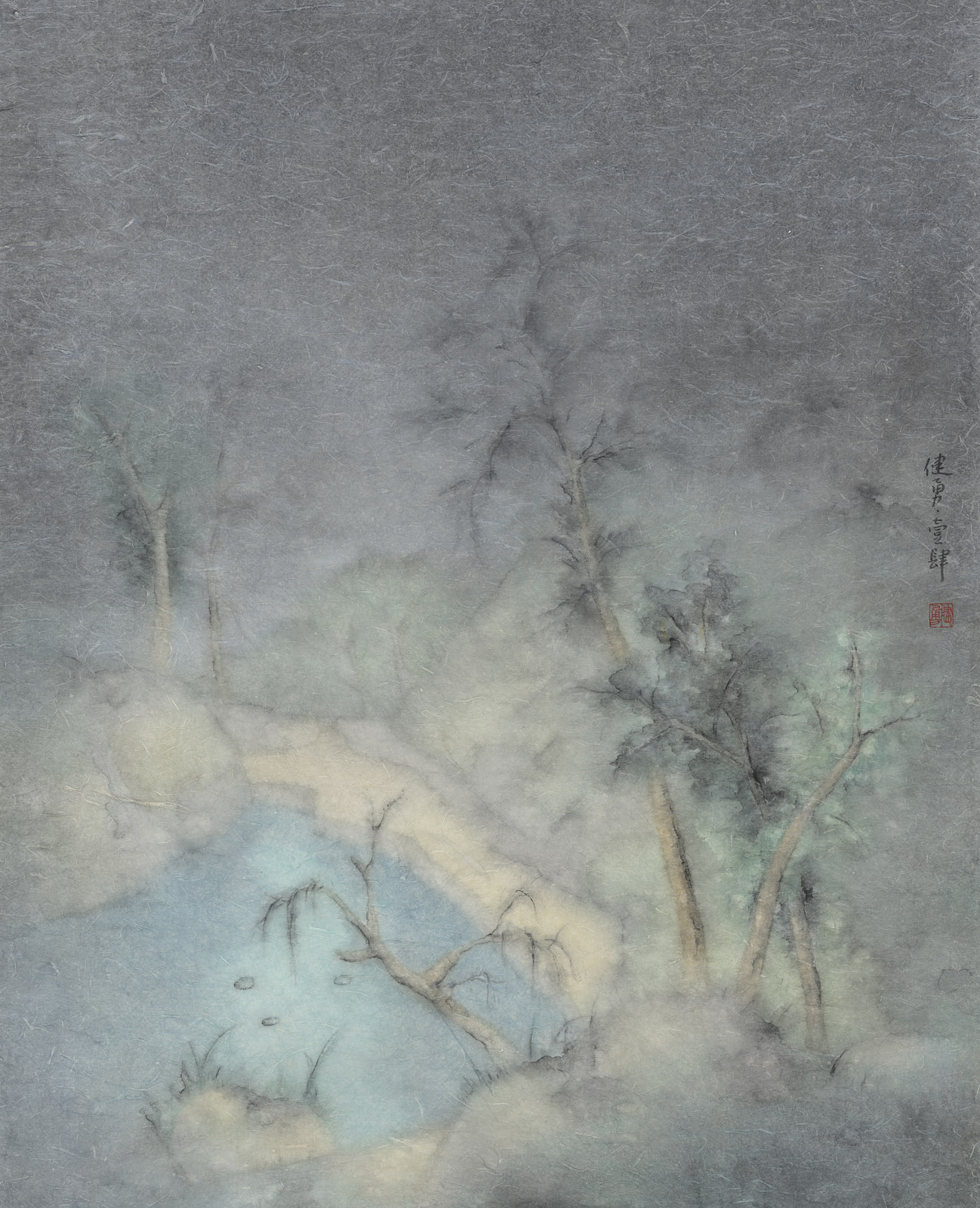 Zeng Jianyong 曾健勇, Lost No.5 迷路之五, 2013, Ink and color on paper 纸本设色, 95 x 128 cm