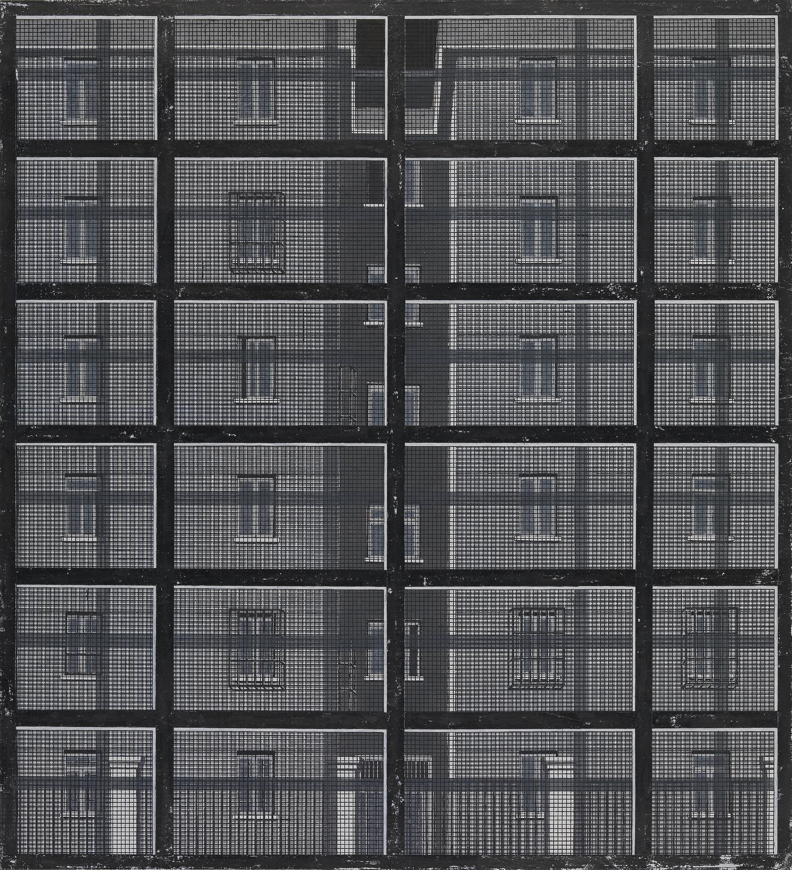 Peng Jian 彭剑, Separation 隔, 2013, Ink and color on paper 纸本水墨设色, 104 × 94 cm