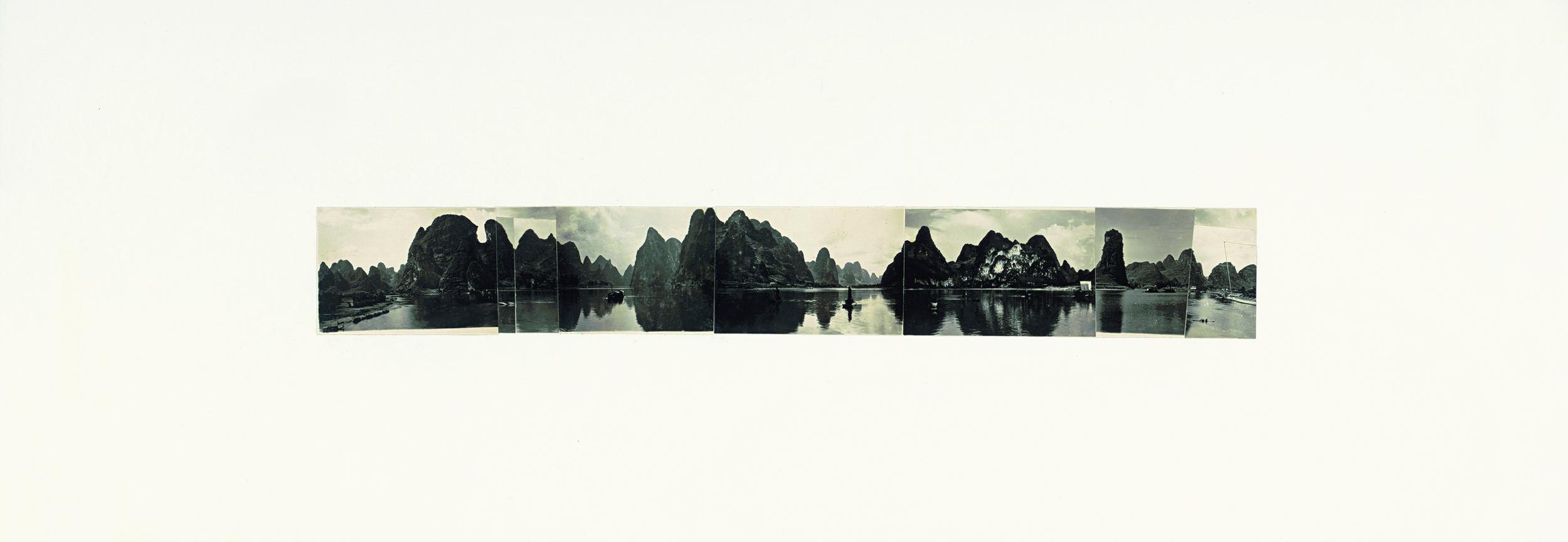 Ni Youyu 倪有鱼, Freewheeling Trip III 逍遥游 3, 2011 - 2012, Collage 拼贴, 20 × 60 cm