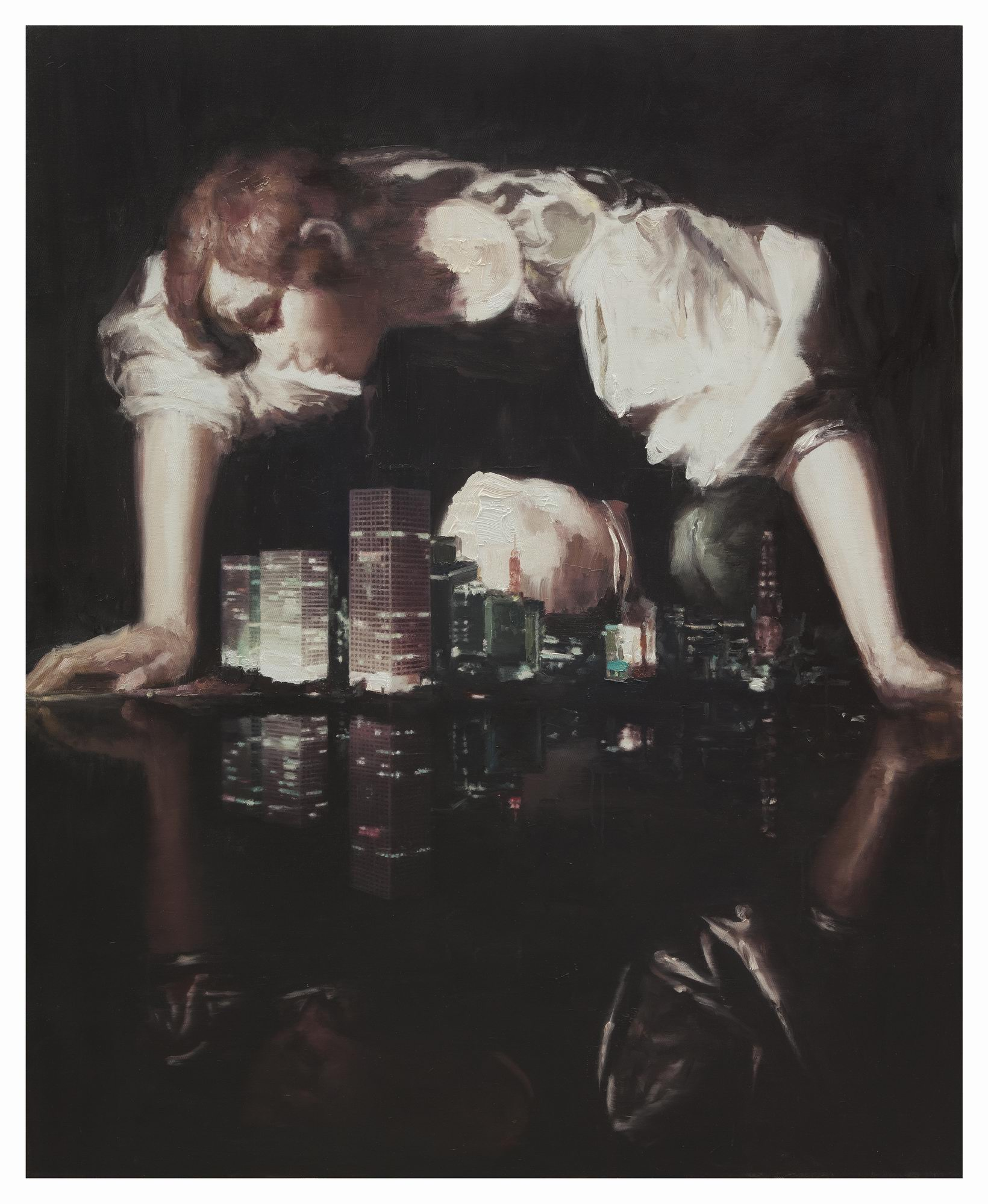 Li Qing 李青, Narcissus' City 那喀索斯之城, 2011, Oil on canvas 布面油画, 160 x 130 cm