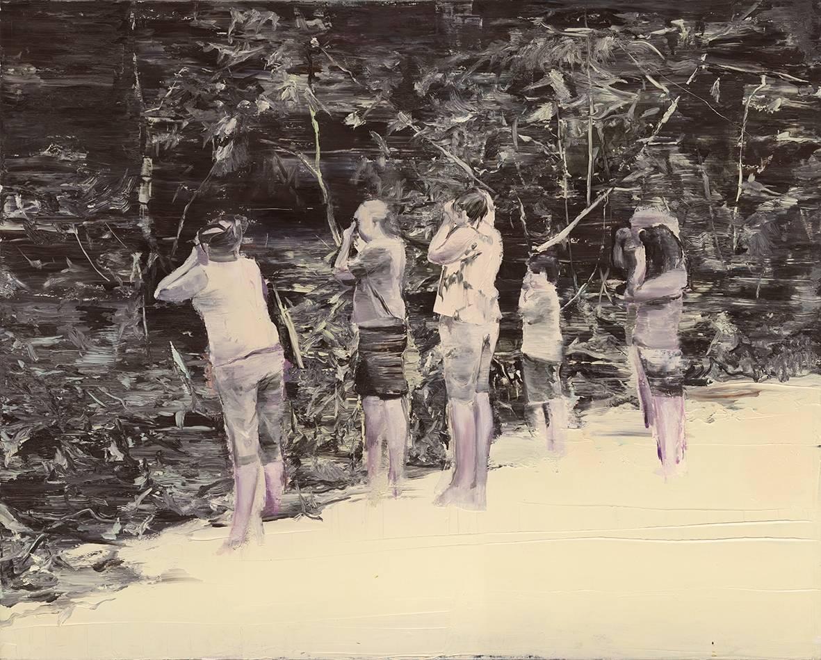Tu Xi 涂曦, Onlookers 围观者, 2012, Oil on canvas 布面油画, 130 x 160 cm