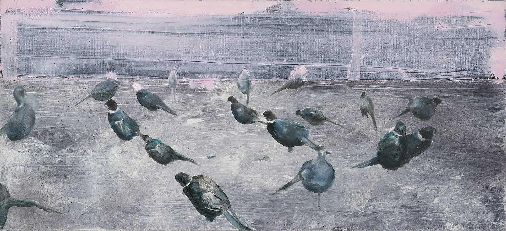 Tu Xi 涂曦, Small World 小世界, 2013, Oil on canvas 布面油画, 63 x 140 cm