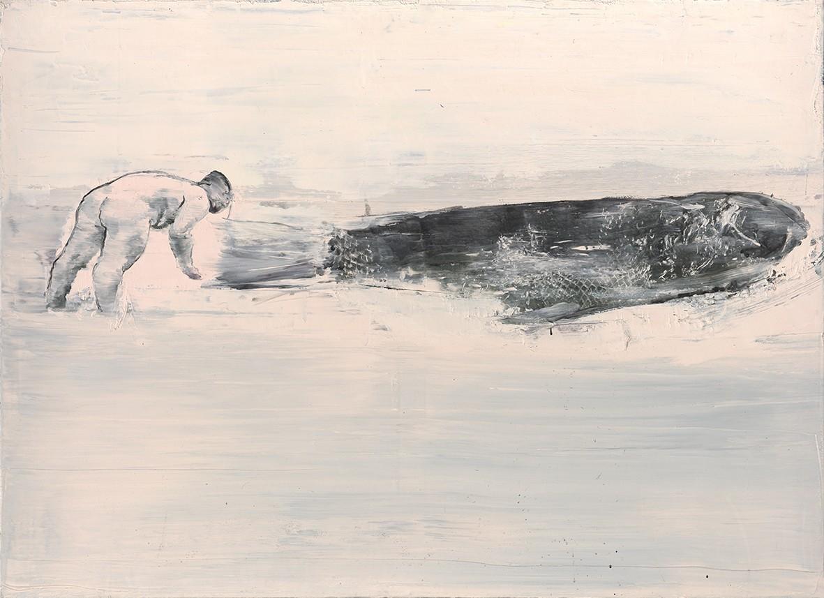 Tu Xi 涂曦, Stranded 搁浅, 2012, Oil on canvas 布面油画 , 100 x 140 cm