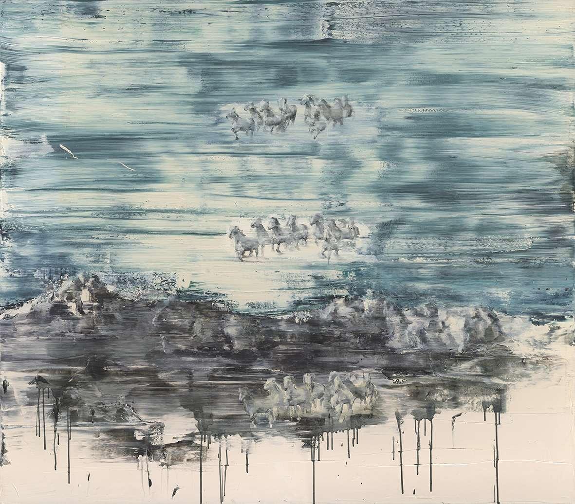 Tu Xi 涂曦, Spiral 螺旋上升, 2013, Oil on canvas 布面油画, 150 x 180 cm