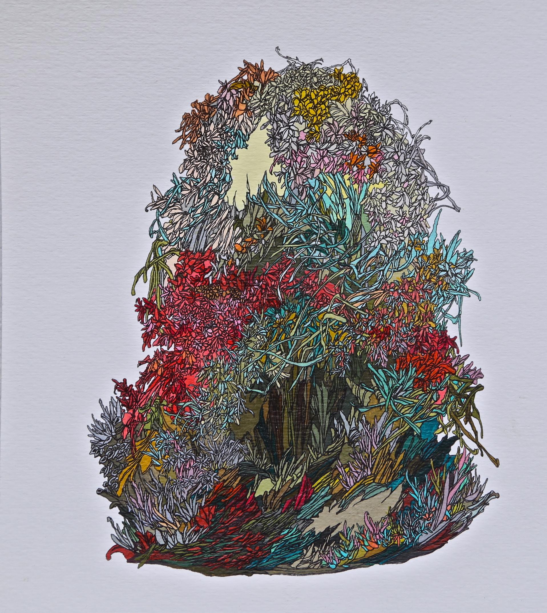Zhou Fan 周范, Totem I 图腾 1, 2014, Color on paper 纸上墨色, 19 x 12 cm