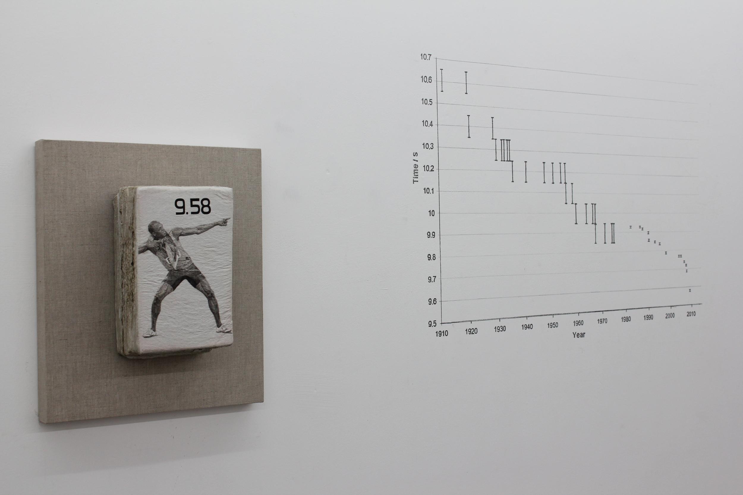 Liu Ren 刘任, S/9.58, 2013, Oil on straw paper 草纸油画, 26 x 17 x 13 cm