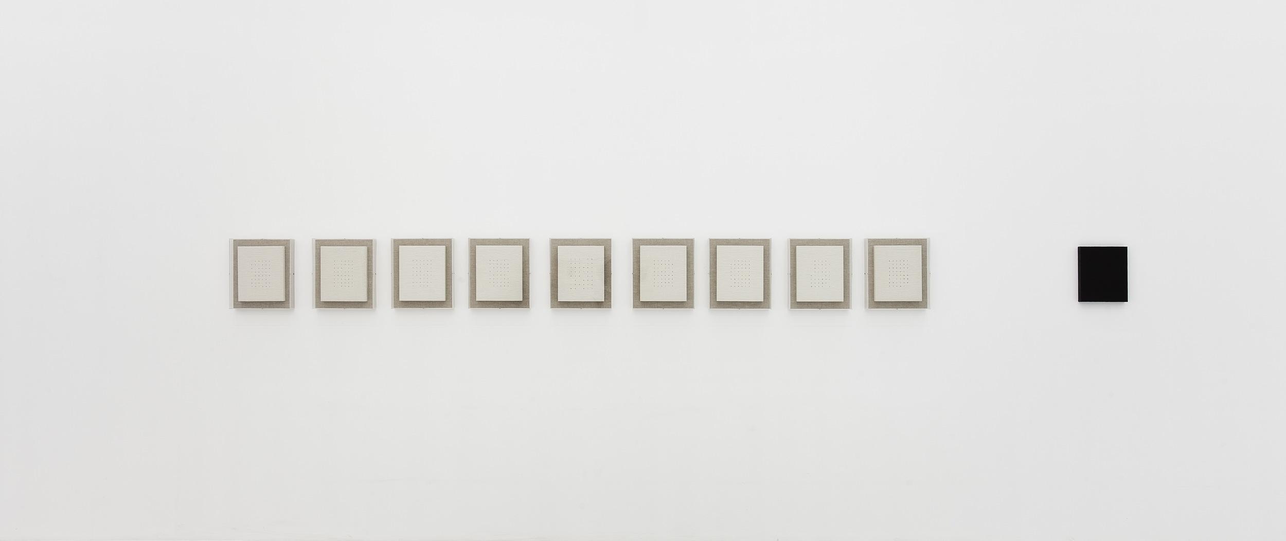 Liu Ren 刘任, How Much Land Does One Needs 一个人需要多少土地, 2013, Oil on straw paper mounted on board 油彩在裱在木板的草纸上, 30 x 25.4 cm x 10